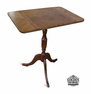 Antique Queen Anne Cherry Tilt Top Candle Stand Table 1900