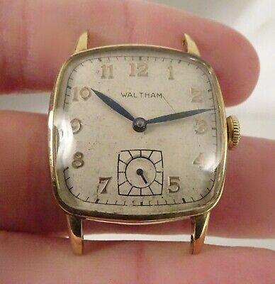 Vintage Waltham 10k Gold Filled Wadsworth 17j Watch   - 58537