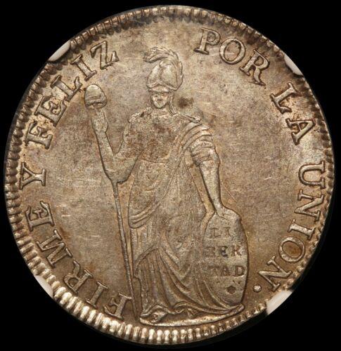 1836 Cuzco B Peru 4 Reales Silver Coin - NGC AU 58 - KM# 151.1
