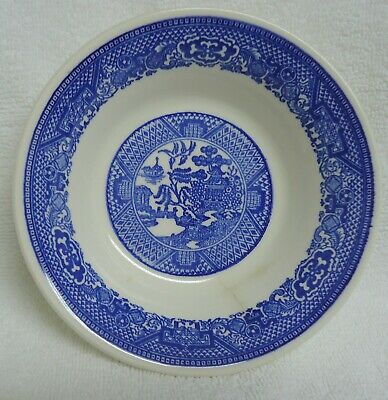 Vintage Blue Willow Ware dessert bowl unbranded 5.75