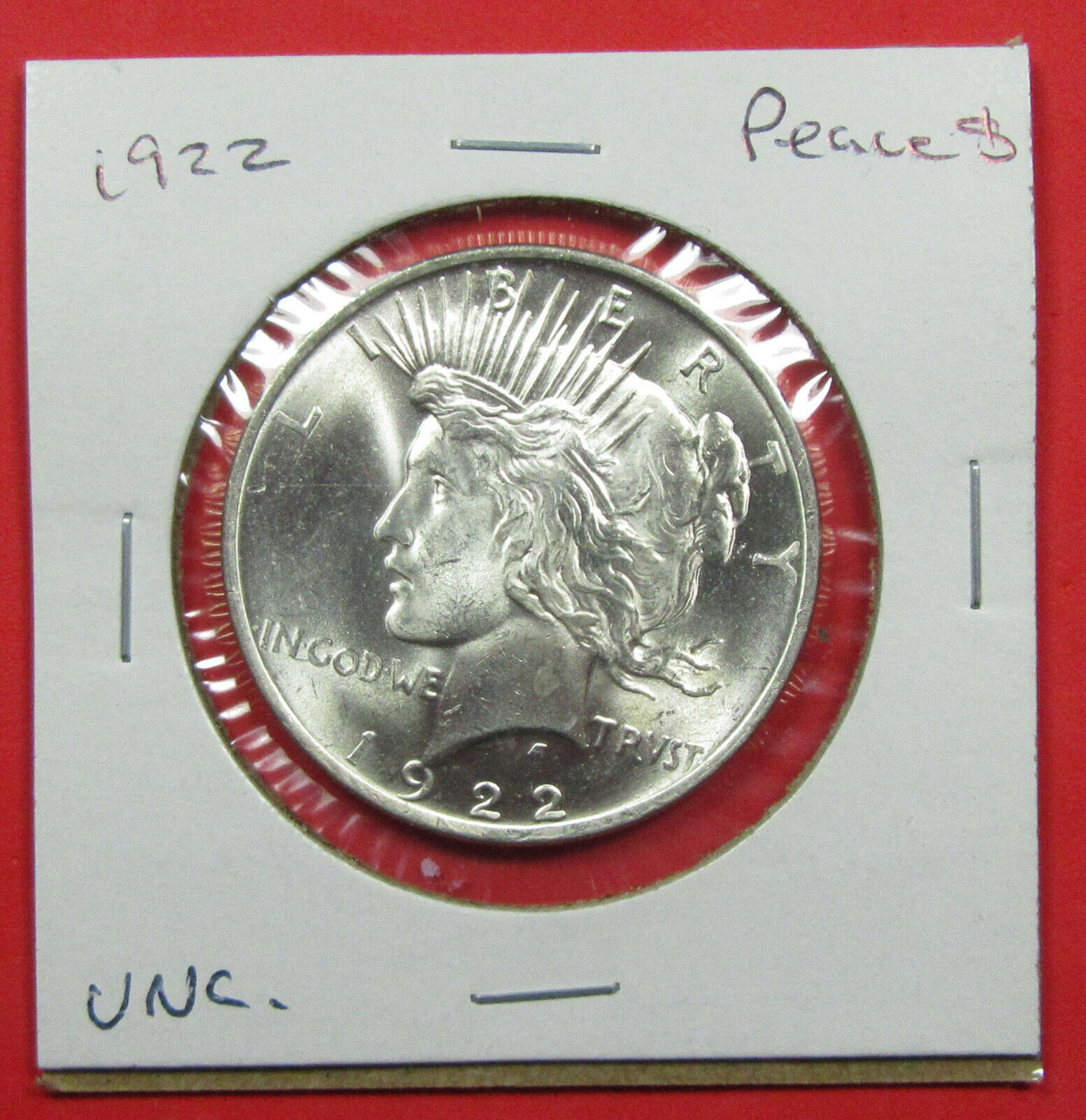 1922 1 Peace Silver Dollar. Uncirculated. Strong Luster, Very Nice 1120154  - $35.00