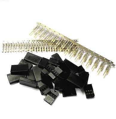 RC Futaba Set Male Female Battery or Servo Connector Plug Gold Plated 10