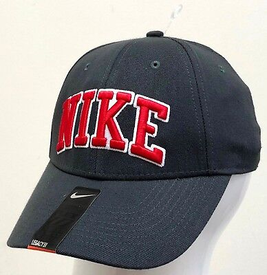 - NIKE LEGACY 91 ADULT UNISEX CAP Anthracite/Sport Red 424662 060