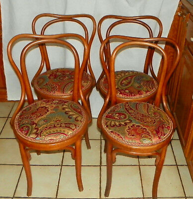 - Set of 4 Bent Maple Dinette Chairs / Sidechairs by Heywood Wakefield  (DC15)