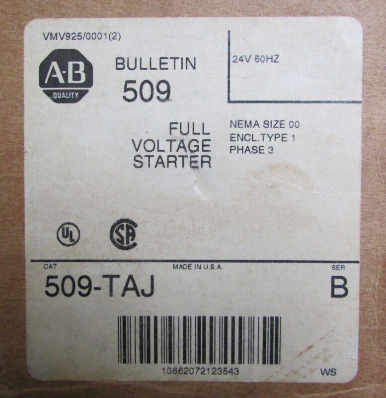 ALLEN BRADLEY Full Voltage Starter 509 TAJ