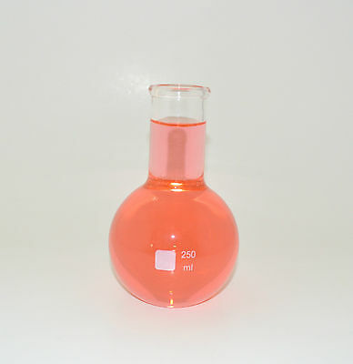 Flat Bottom Long Neck Boiling Flask Vase 250ml Borosilicate Glass Lab Irregular