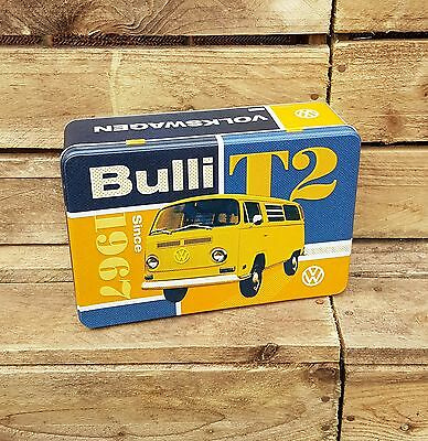 VOLKSWAGEN CAMPERVAN TYPE 2 RECTANGULAR Storage TIN Cookie BISCUITS Box
