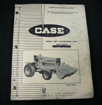 Case 680 Construction King Ck Unit Loader Tractor Parts Manual 680ck