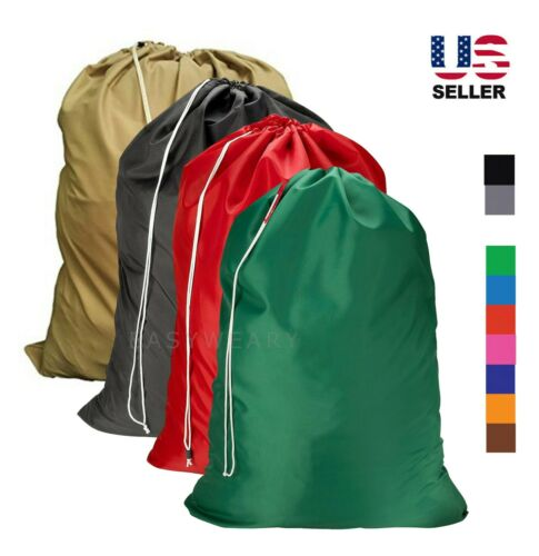 Laundry Bag Heavy Duty Drawstring Nylon College Home Large Jumbo 30x40 New