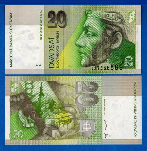 Slovakia P-20 20 Korun Year 1997 Uncirculated Banknote