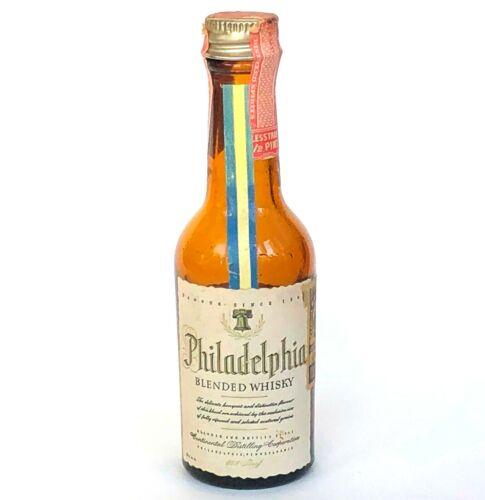 Vtg Philadelphia Miniature Liquor Bottle Whisky Maryland Tax Stamp Sealed Empty