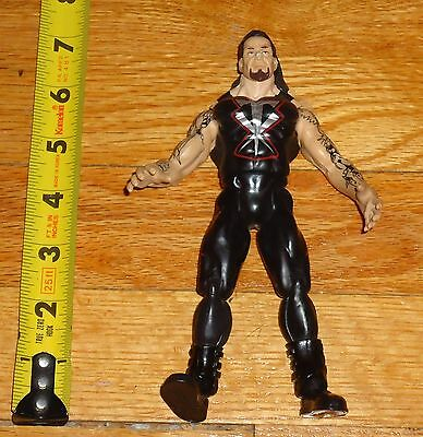 1999 WWF WWE Jakks Undertaker TTL Wrestling Figure Black outfit Silver logo