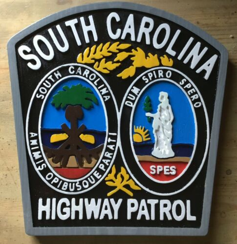 Police South Carolina Highway Patrol 3D routed wood Patch Plaque Sign Custom