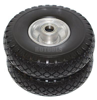 2x Sackkarrenrad Rad Reifen PU Vollgummi für Sackkarre Bollerwagen 25mm