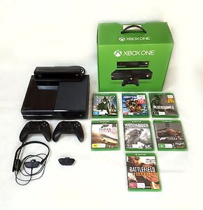 Xbox One + Kinect + 2 Controllers + 7 Games Plympton West Torrens Area Preview