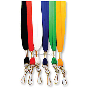 36-NECK-LANYARD-FLAT-W-SWIVEL-HOOK-FOR-ID-BADGE-HOLDER