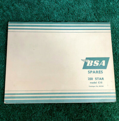 NOS ORIGINAL 1964 BSA MOTORCYCLE PARTS MANUAL CATALOG C15 STAR 250
