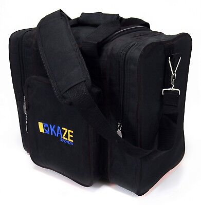 KAZE SPORTS Deluxe 1 Ball Bowling Tote Bag with Two Side Pockets One Single