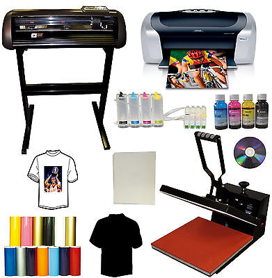 15x15 Heat Press28 24 Metal Vinyl Cutter Plotter Printer Ciss Tshirt Startup