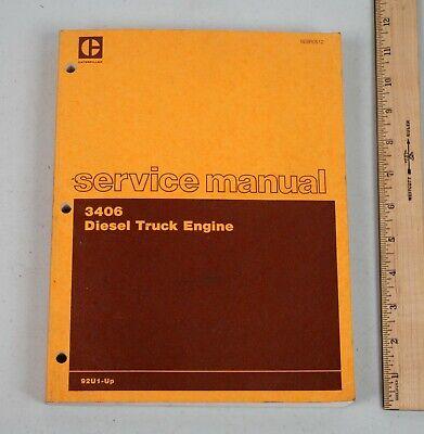 Vintage 1982 Caterpillar Diesel Truck Engine Service Manual 3406 92u1-up