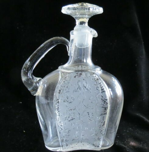Paden City Crystal Spring Orchard Cordial Decanter w/ Stopper