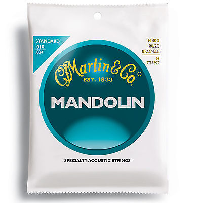 Martin Mandolin Strings 10 - 34 M400 80/20 Bronze Top Quality