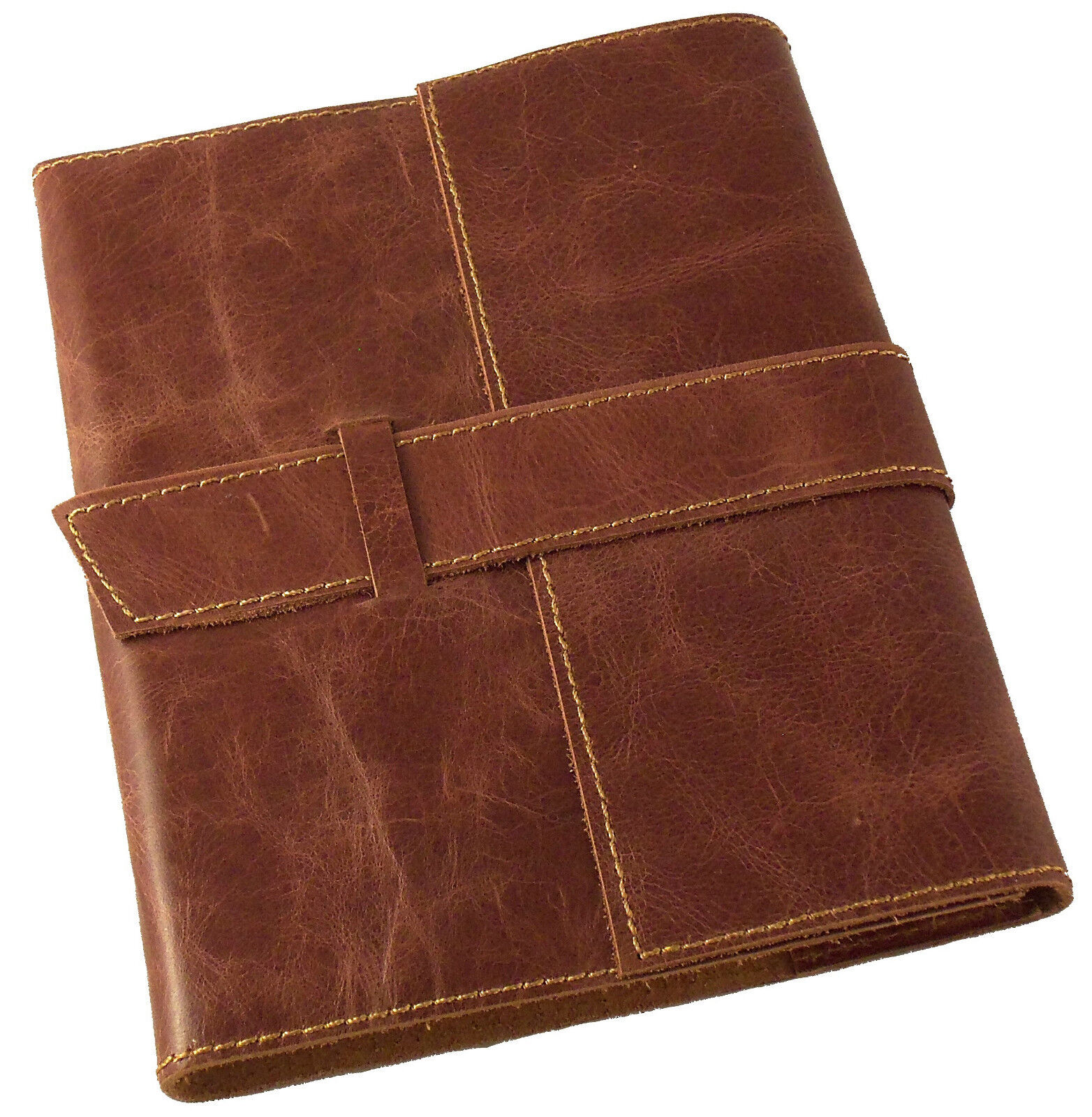 REFILLABLE Leather Travel Journal Sketchbook Notebook Diary Retro Vintage RUSTIC 4