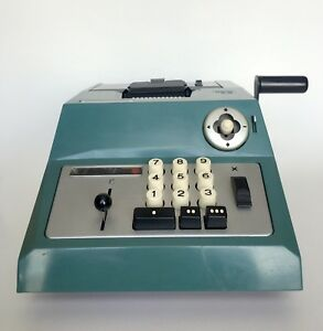 Rare Vintage Olivetti Underwood Summa Prima 20 Manual Adding Machine Calculator