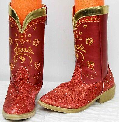 Disney Laden Toy Story Jessie Rot Glitter Cowgirl Stiefel Mädchen Sz 2/3 - Jessie Mädchen Kostüm