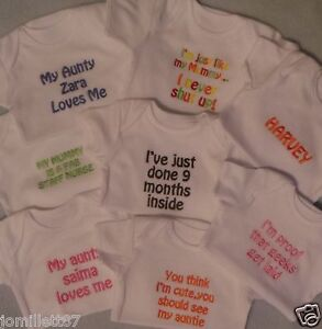 BABY-VEST-BODY-SUIT-PERSONALISED-BABYGROW-BOY-OR-GIRL-CLOTHES-FUNNY-GIFT