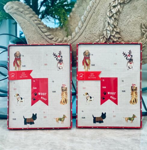 NEW Luxury Christmas Holiday DOGS Gift Present Labels Tags Stickers 105 Count