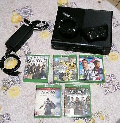 Microsoft Xbox One 500GB Console - Matte Black con Joystick nero + 5 Giochi