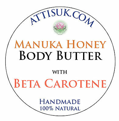 ATTIS Manuka Honey Body Butter with Beta Carotene | Macadamia Nut Oil - Macadamia Oil Body Butter