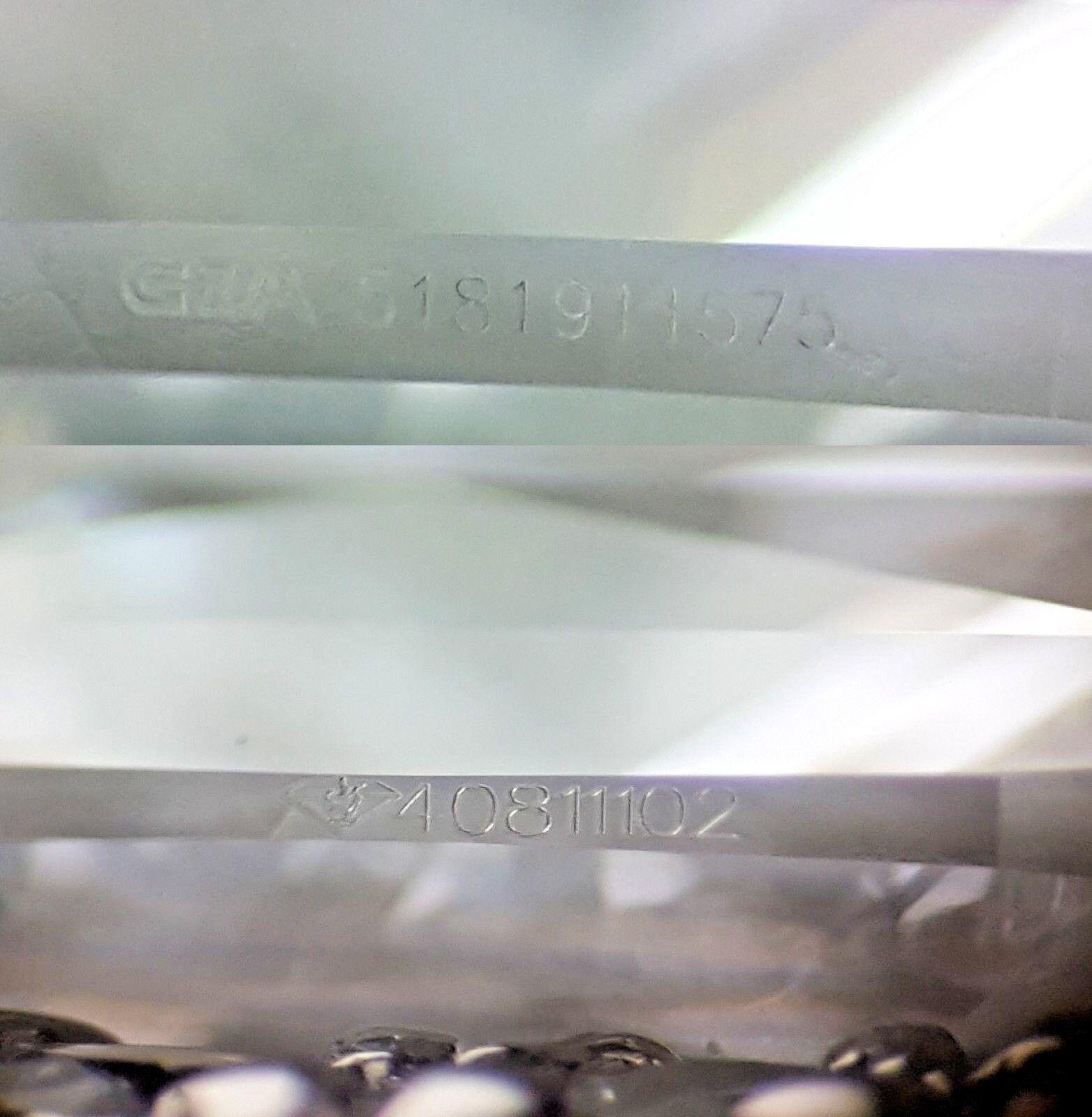 0.97 ct 18K White Gold Cushion Cut Diamond Double Halo Engagement Ring GIA E/VS1 6