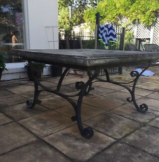 Stone Top Outdoor Table