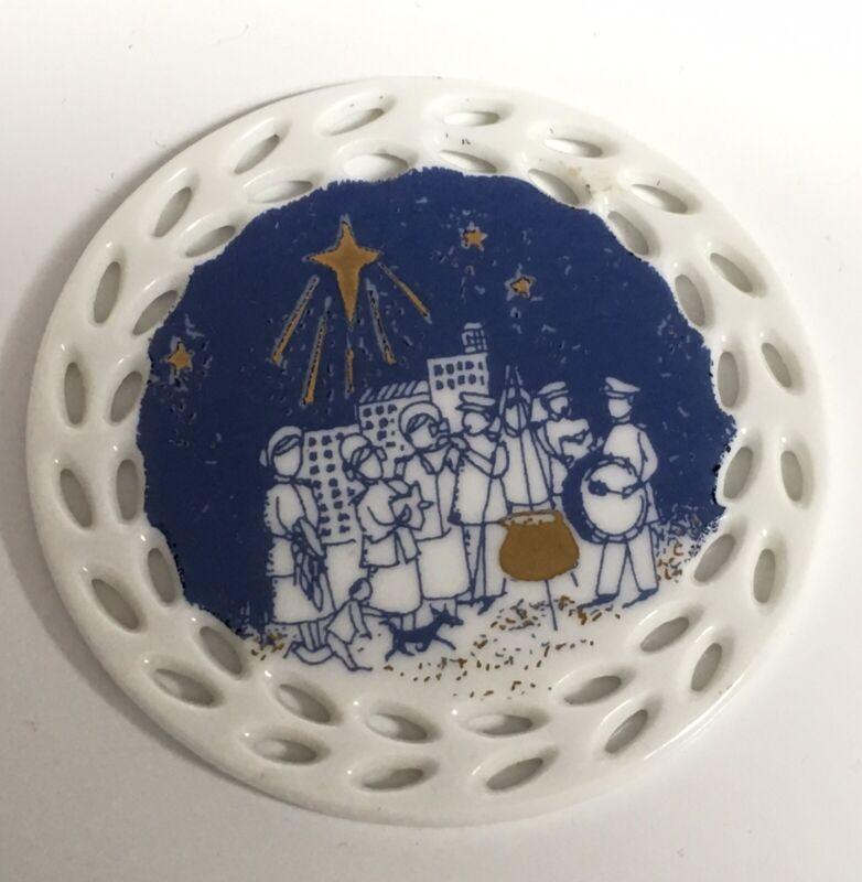 2017 Ceramic Salvation Army Christmas Ornament HTF