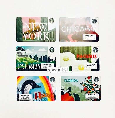 2019 STARBUCKS USA PICK YOUR City Card Florida Hawaii NY Phoenix LA Chicago