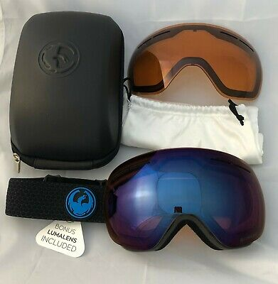 Dragon X1s Snowboard/Ski Goggles including spare lens, case and microbag