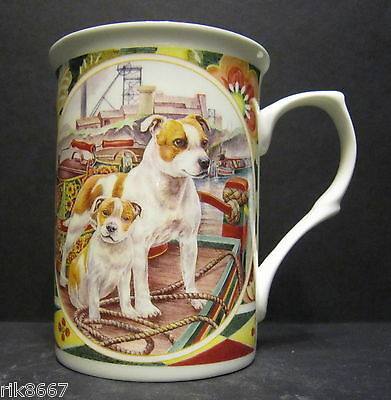 Staffordshire Bull Terrier Dog By Mellor Fine Bone China Mug Cup Beaker