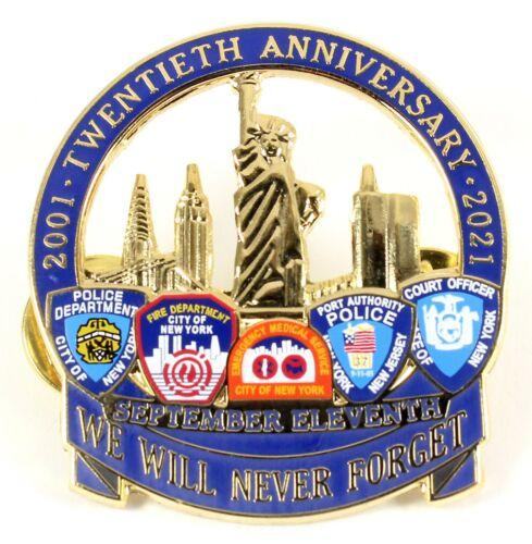 September 11th Twentieth Anniversary Pin