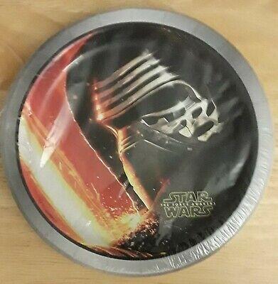 Star Wars The Force Awakens Small 7 Inch Dessert Party Cake Plates  - Star Wars Party Plates