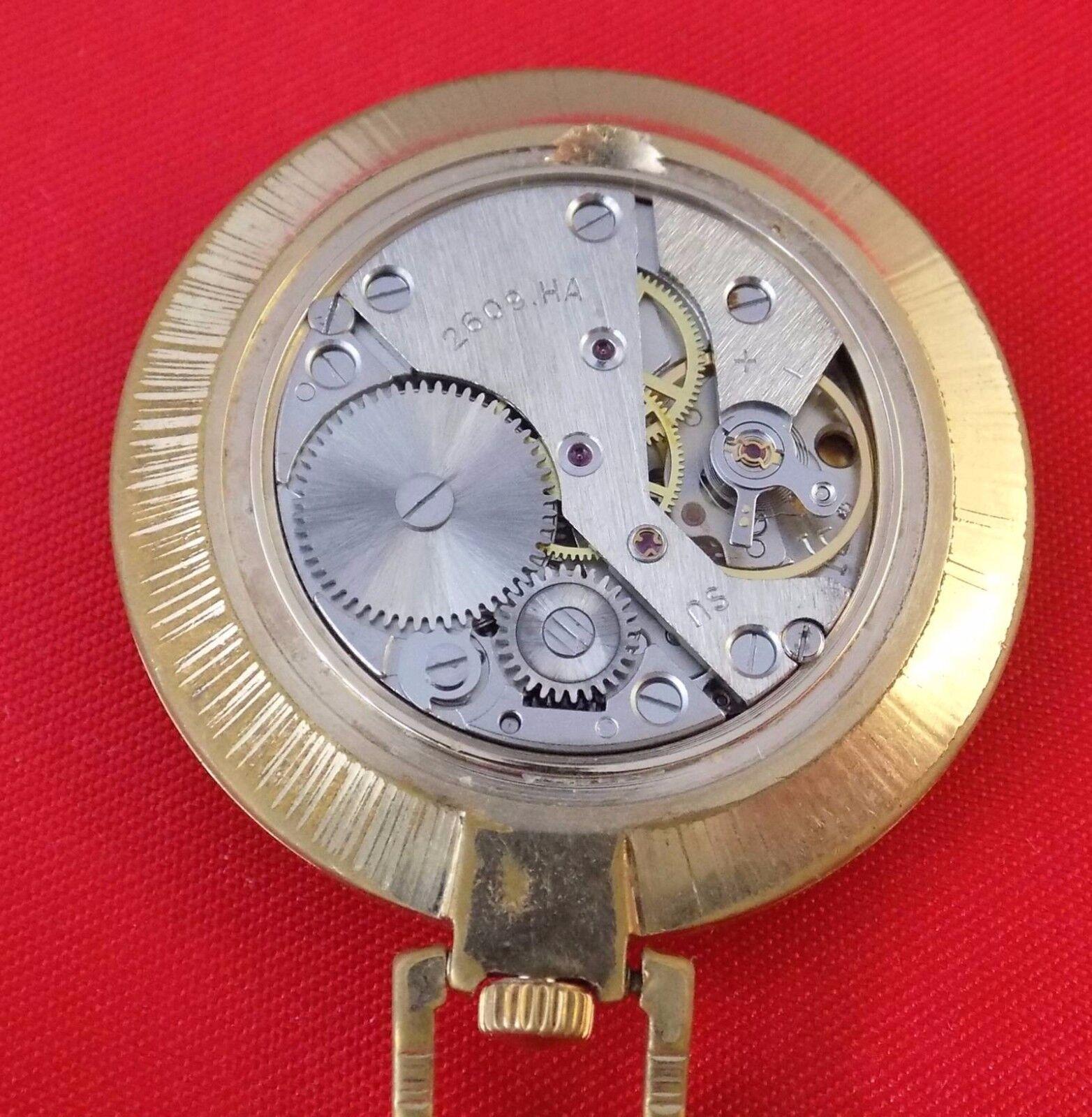 RARE Pocket watch Gold plated Raketa Cardinal Luxury Soviet USSR shockproof