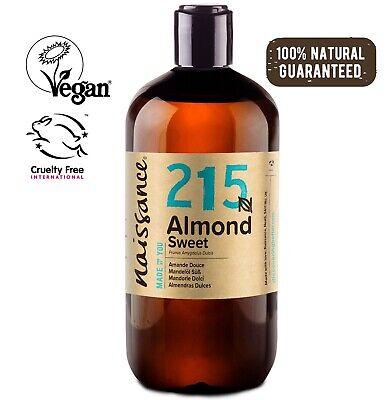 Naissace Aceite de Almendras Dulces 500ml - Hidrata el cabello y todo...