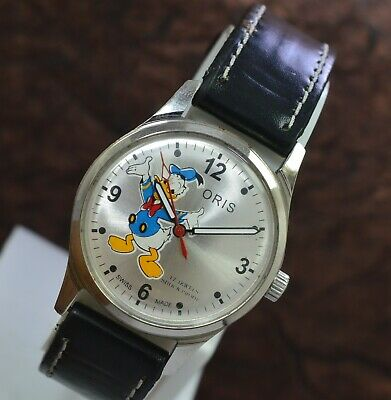 Vintage Oris Donald Duck Hand Wind ST 96 17 Jewels Men's Wrist Watch