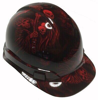 Hydro Dipped Hard Hat Ridgeline Cap Style Custom Red Reaper W Free Brb T-shirt