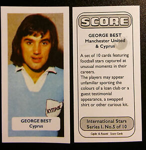 Manchester United / Cyprus (!) GEORGE BEST - Score UK trade card