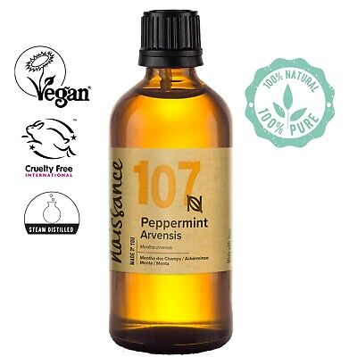 Naissance Aceite Esencial de Menta - 100ml 100% puro, vegano y no...