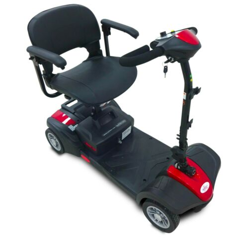 Red Ev Rider Minirider Lite Mobility Scooter, 280 Wt Cap, Easy Transport, 18 Ah