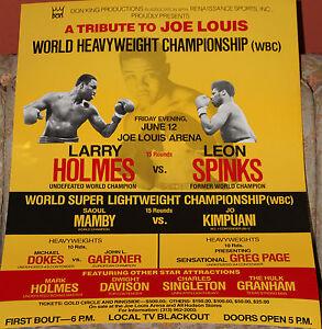 VINTAGE-ORIGINAL-BOXING-POSTER-HOLMES-SPINKS-FIGHT-1981