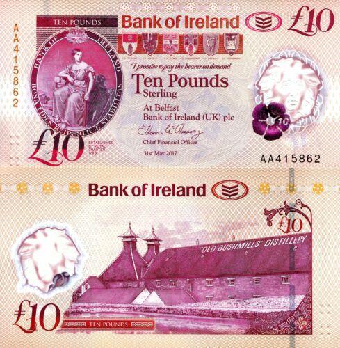 NORTHERN IRELAND 10 Pounds Banknote World Polymer Money UNC Pick pNEW 2019 Bill